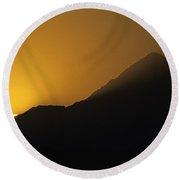 Mount Hood Sunrise Round Beach Towel