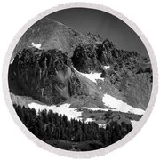 Mount Lassen Round Beach Towel