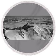 Mount Mckinley - The Great One Round Beach Towel
