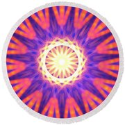 Mount Pinatubo Round Beach Towel