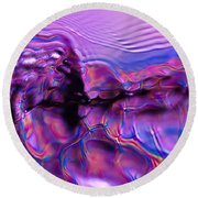 Mount Purple Round Beach Towel