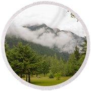 Mount Robson Provincial Park Round Beach Towel