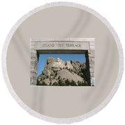 Mount Rushmore 3 Round Beach Towel