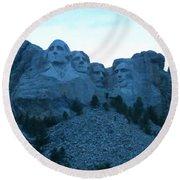 Mount Rushmore Blues Round Beach Towel