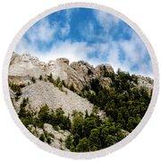 Mount Rushmore Round Beach Towel