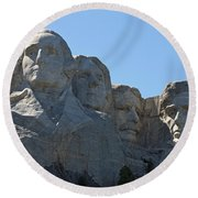 Mount Rushmore National Monument Round Beach Towel
