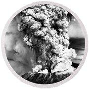 Mount St Helens Eruption Round Beach Towel