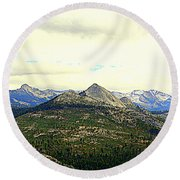 Mount Starr King Round Beach Towel