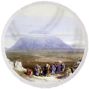 Mount Tabor Round Beach Towel