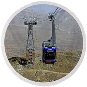Mount Teide Cable Car Round Beach Towel