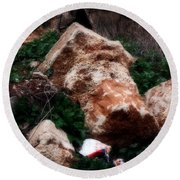 Mount Trashmore - Series Xi Round Beach Towel