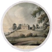 Mount Vernon, 1800 Round Beach Towel