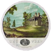 Mount Vernon, 1859 Round Beach Towel