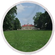 Mount Vernon In May Round Beach Towel