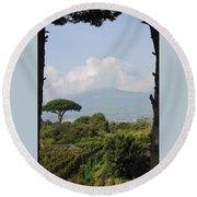 Mount Vesuvius Round Beach Towel