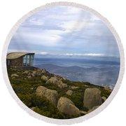 Mount Wellington Tasmania Round Beach Towel