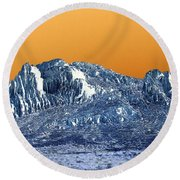 Mountain Abstract  Round Beach Towel