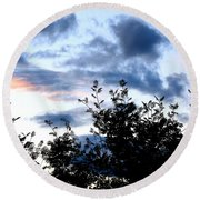 Mountain Ash Silhouette Round Beach Towel