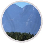 Mountain Contrasts Round Beach Towel