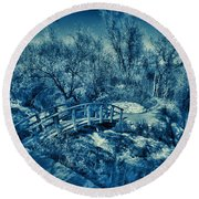 Mountain Creek Path-sundance Utah V2 Round Beach Towel