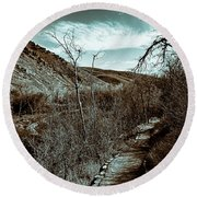 Mountain Creek Path-sundance Utah V3 Round Beach Towel