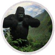 Mountain Gorilla Round Beach Towel