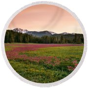 Mountain Meadow Color Round Beach Towel