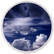 Mountain Of Clouds Round Beach Towel