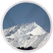 Mountain Of Peace - Himalayas Round Beach Towel