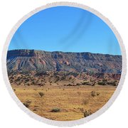 Mountain Over The Plains Round Beach Towel