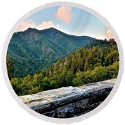 Mountain Overlook Round Beach Towel