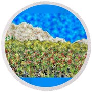 Mountain Park Round Beach Towel