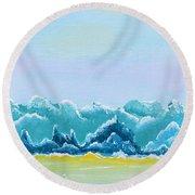 Mountain Range Round Beach Towel