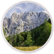 Mountain Scene Round Beach Towel