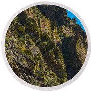 Mountain Side Round Beach Towel