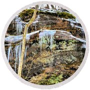 Mountain Spring Beauty  Round Beach Towel