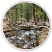 Colorado Mountain Stream 2 Round Beach Towel
