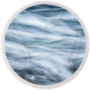 Mountain Stream In Motion E101 Round Beach Towel
