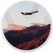Mountain Takeoff Round Beach Towel