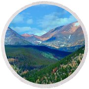 Mountain Top Color Round Beach Towel