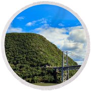 Mountain Tops Round Beach Towel