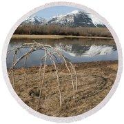 Aboriginal Sacred Sweat Lodge - Waterton Lakes Nat. Park, Alberta Round Beach Towel