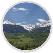 Mountains Co Grouse - New York 2 Round Beach Towel