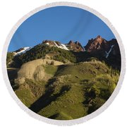 Mountains Co Sievers 1 Round Beach Towel
