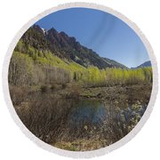 Mountains Co Sievers 3 Round Beach Towel