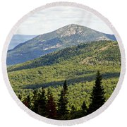 Mountian Draw Round Beach Towel