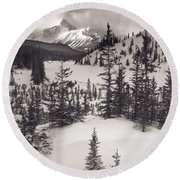 Mountt Sarbach And The North Round Beach Towel
