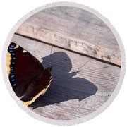 Mourning Cloak Round Beach Towel