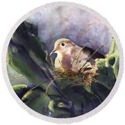 Patience Is A Virtue Round Beach Towel