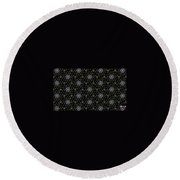 Mourning Weave Round Beach Towel